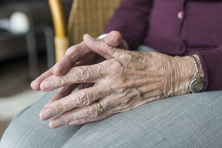 Hands of the elderly.